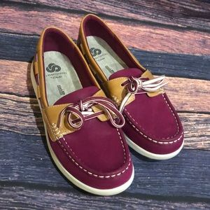 Clark's cloud steppers boat shoes